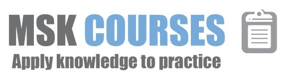 MSK Courses _logo